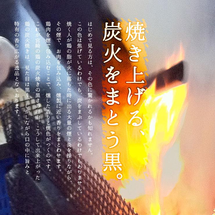 宮崎炭火焼き鳥 黒いシミについての炭火効果説明