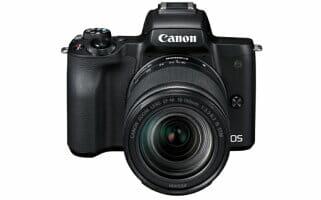キヤノンミラーレスカメラ  EOS Kiss M 【ふるさと納税】(EOS Kiss M EF-M18-150 IS STM レンズキット・ブラック)